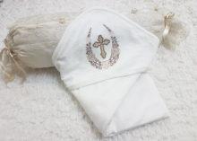 Крестильное полотенце-уголок с орнаментом подкова