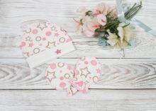Шапочка для новорожденного с царапками «Звездочки розовые» (0-3 мес)