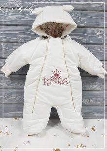 Непромокаемый комбинезон с принтом (бел, little princess) 68р.