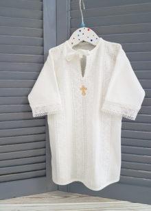 Крестильная рубашка «Ажур» р. 62-74, 80-86