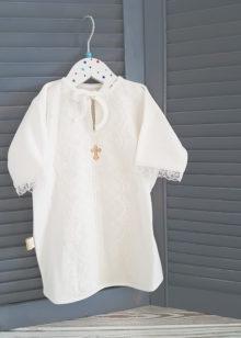 Крестильная рубашка «Кружево» р. 62-74, 80-86