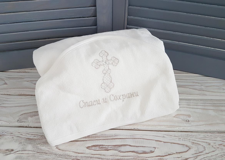 Крестильное полотенце «Спаси и Сохрани» (серебро)
