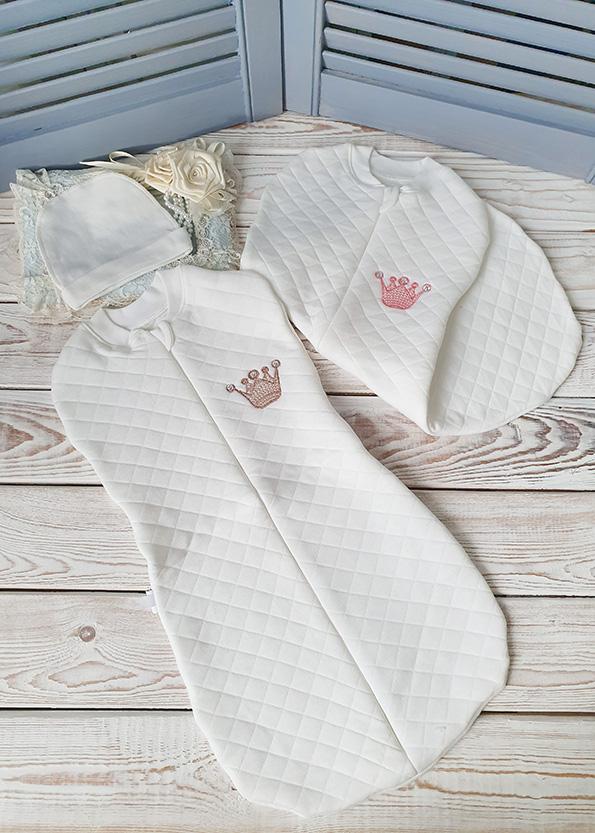 Пеленка-кокон на молнии «Капитоний» (вышивки в ассортименте)