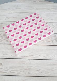 Фланелевая пеленка (розовые сердечки)