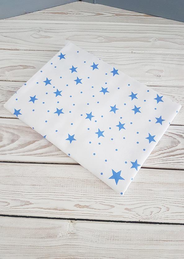 Фланелевая пеленка (синие звезды)