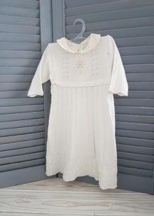 Вязаное крестильное платье для девочки р. 62, 68, 74
