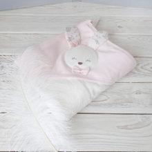 Махровое полотенце с капюшоном (зайка)