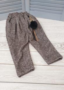 Утепленные брюки для девочки р. 86