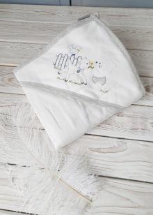 Махровое полотенце с капюшоном (мишка)