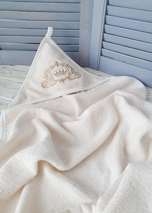 Махровое полотенце с капюшоном «Корона»