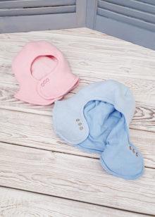 Зимняя шапка-шлем для малышей (44-46)