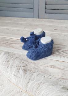Пинетки для новорожденных (0-6 мес), синие