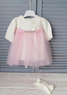Вязаное платье для девочки р. 62-86