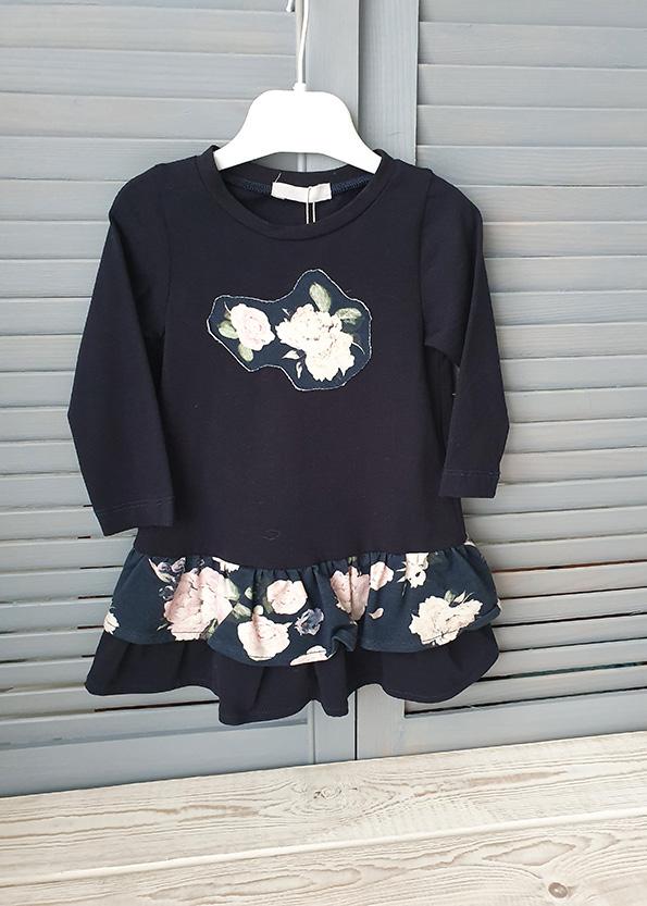 Трикотажное платье для девочки р.86
