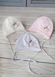 Трикотажная шапочка для девочки (0-3 мес)