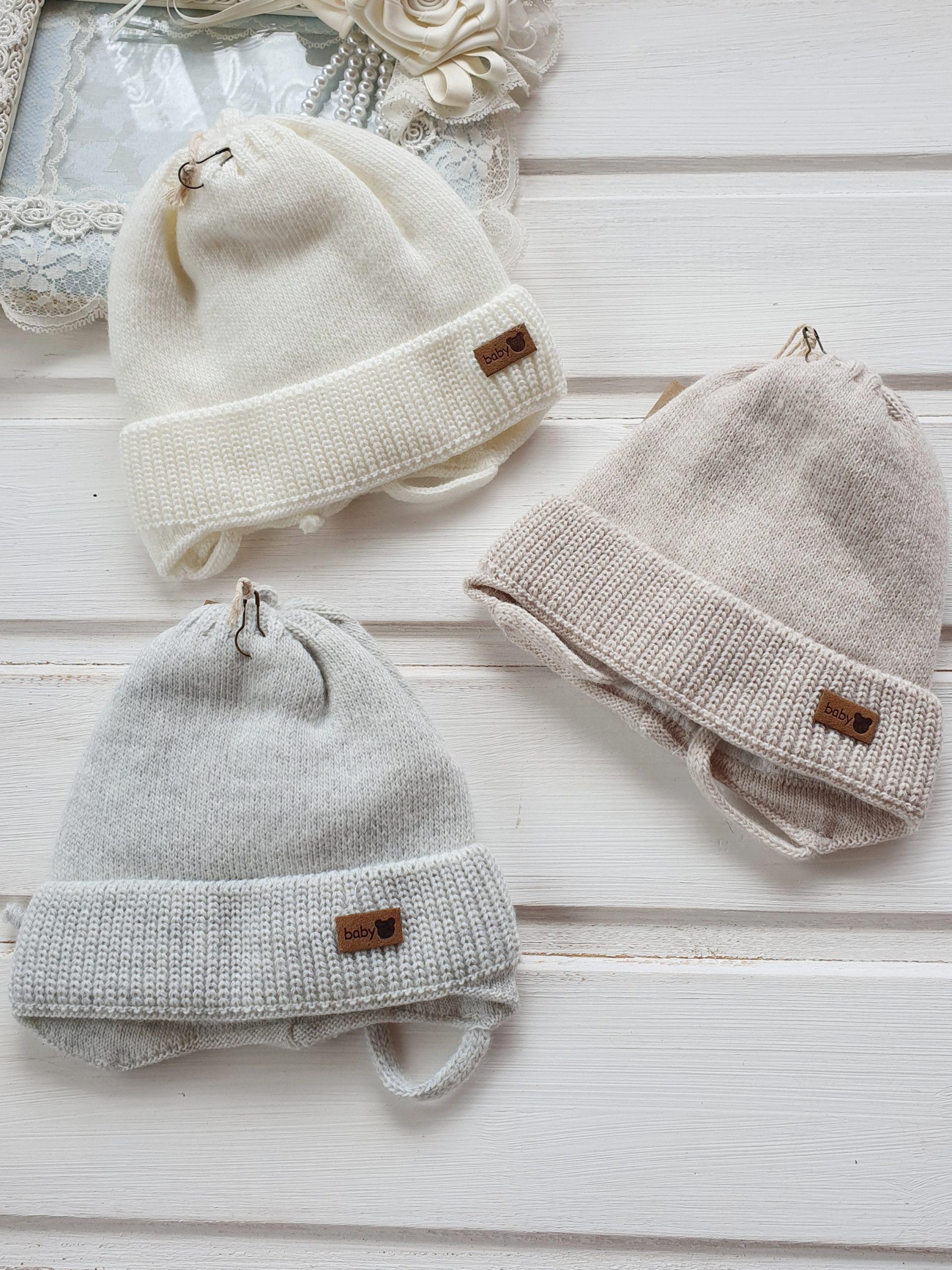 Шапочка для новорожденного, осень-весна «Baby» 0-3 мес