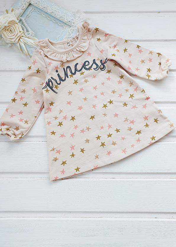 Платье для девочки, футер р. 68, 74, 80