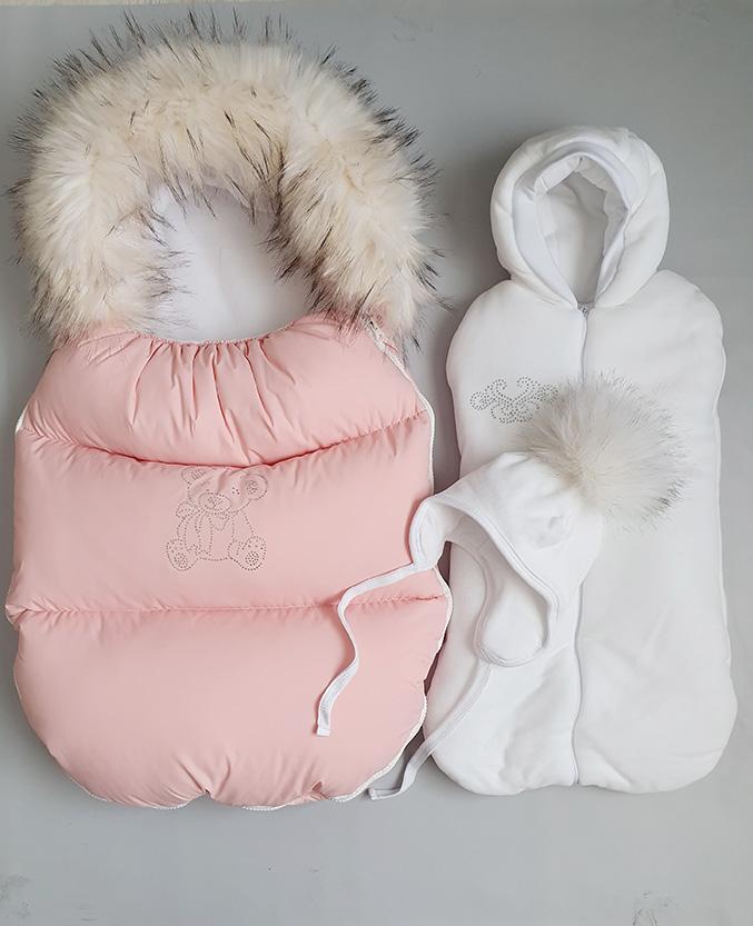 Зимний набор из 3 предметов (персиковый)
