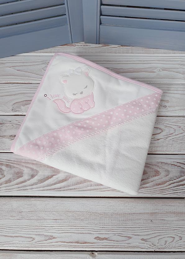 Махровое полотенце с капюшоном «Котик»