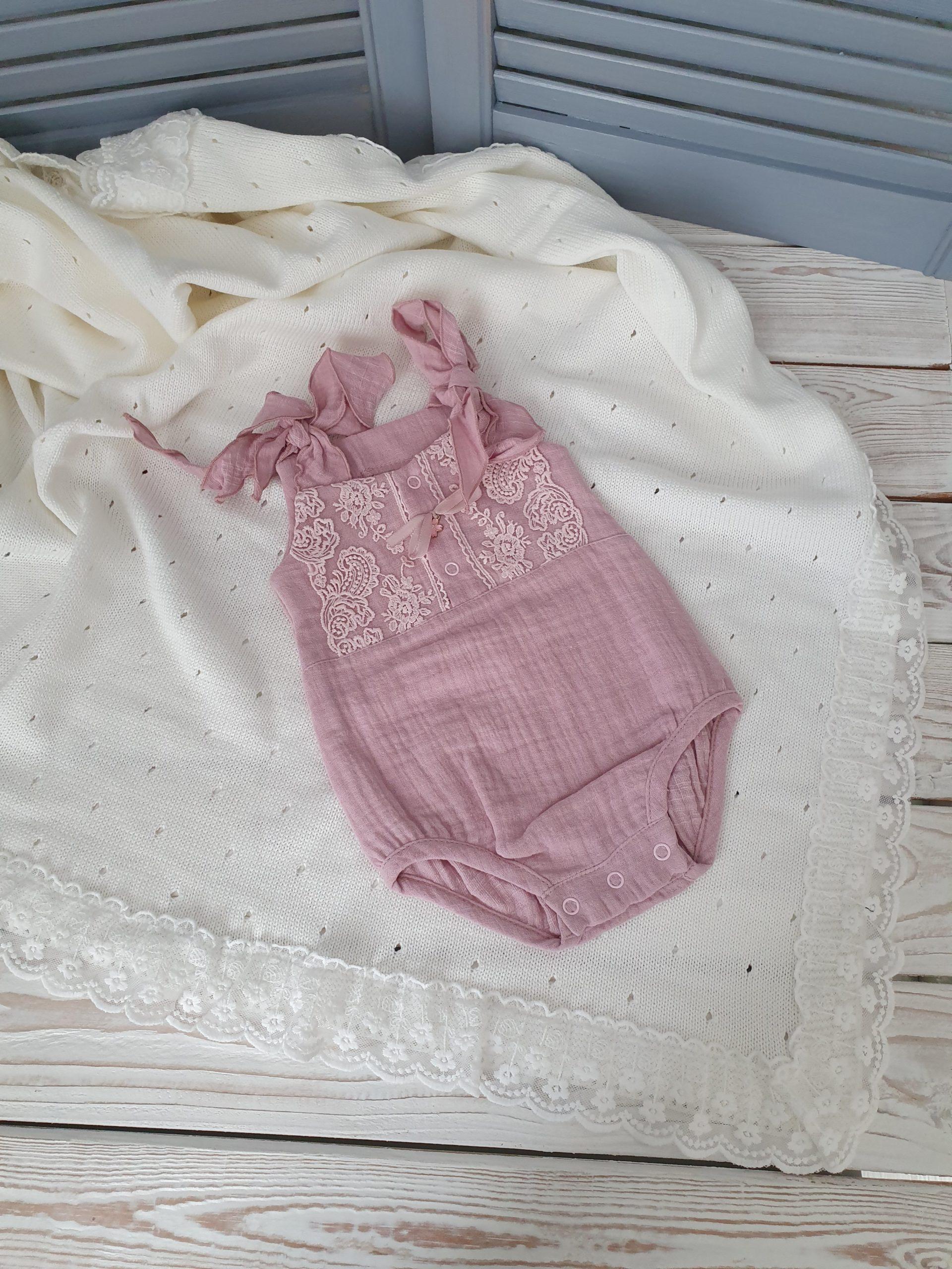 Муслиновый песочник, пудровый 56, 68