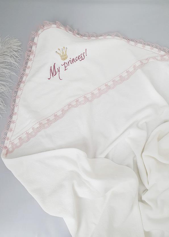 Махровое полотенце с капюшоном «Принцесса»
