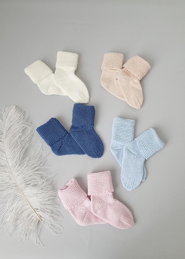 Вязаные носочки (0-3 мес)