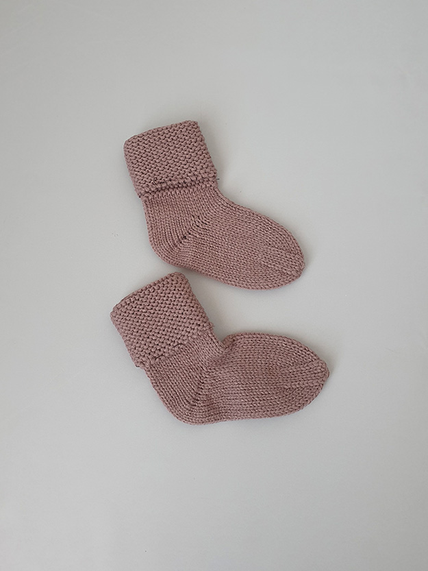 Вязаные носочки (0-6 мес),шоколад