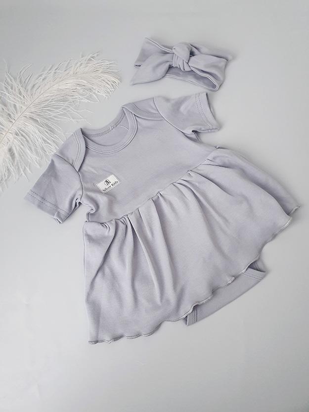 Боди-платье (серый) р.68