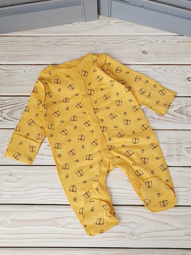 Слип для новорожденного, желтый р.56, 62