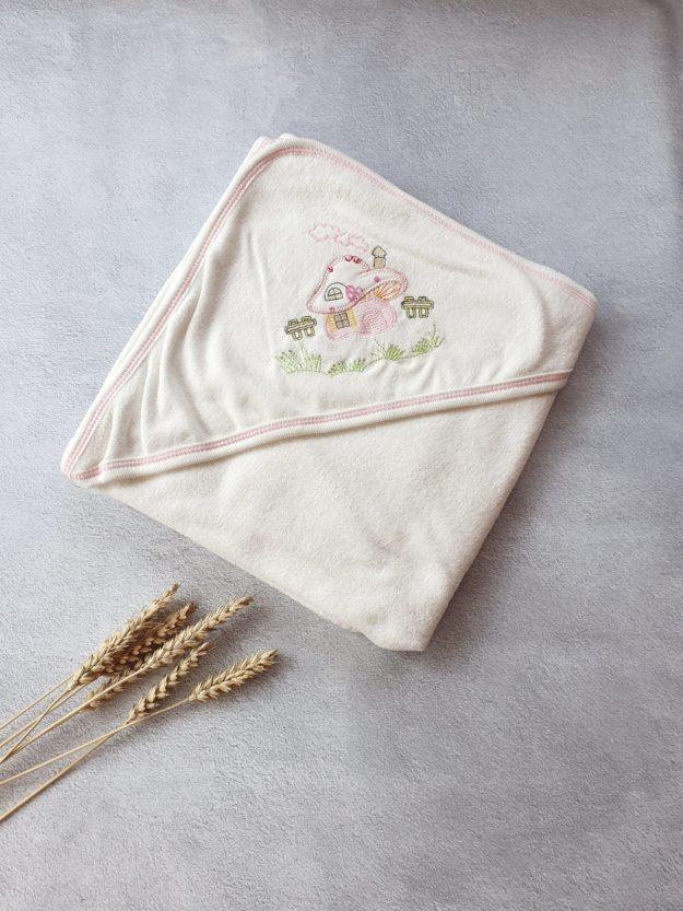 Махровое полотенце с капюшоном «Домик»