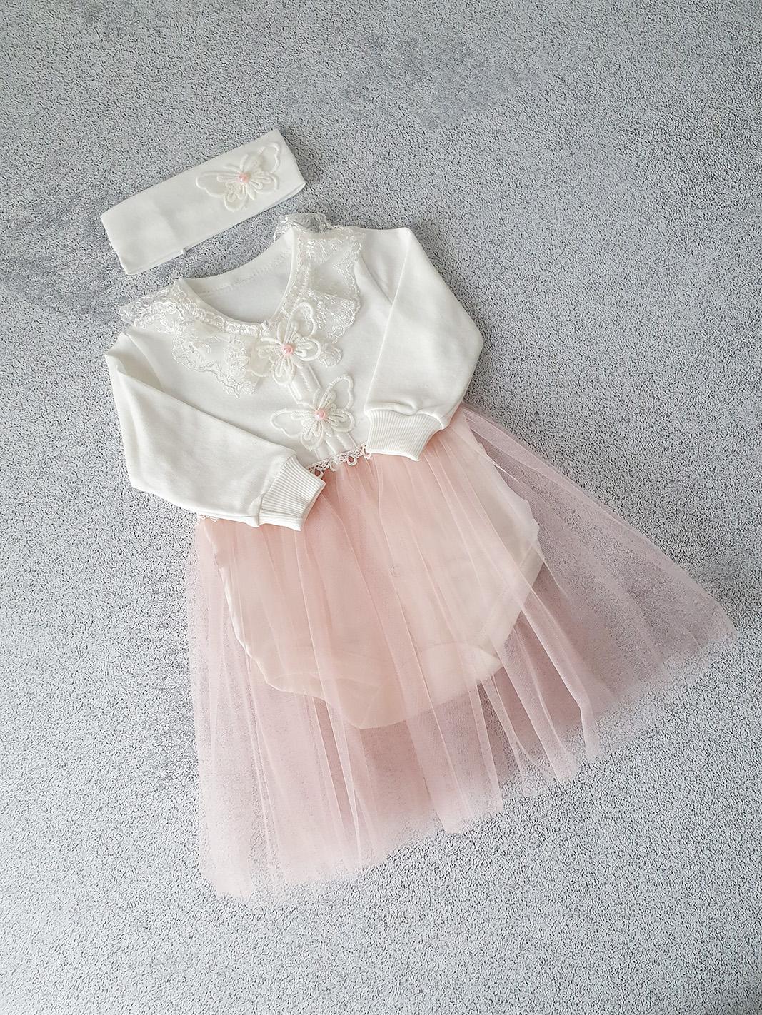 Боди-платье с повязкой р.62
